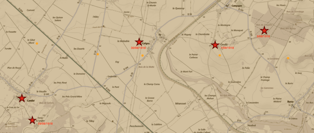 La bataille finale du Bois du Chapitre à CHEVILLY(Oise)